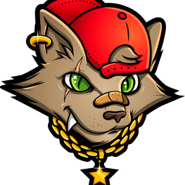 Profile impro gang logo  cat head  kopie